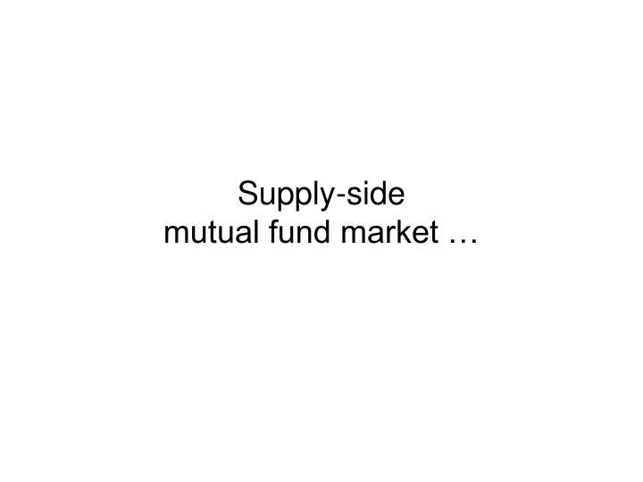 Supply-side