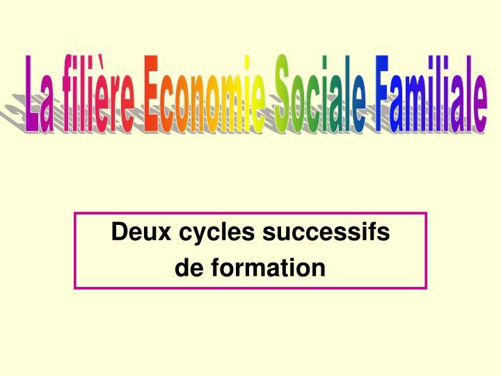 Deux cycles successifs de formation
