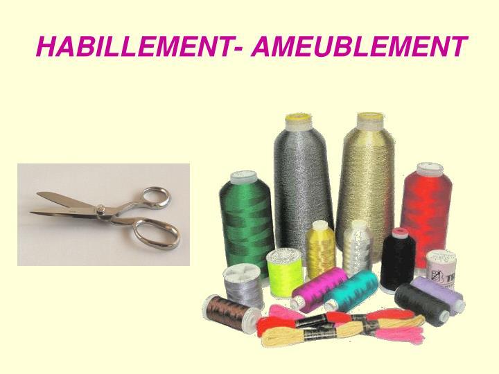 HABILLEMENT- AMEUBLEMENT