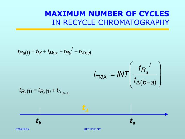 MAXIMUM NUMBER OF CYCLES