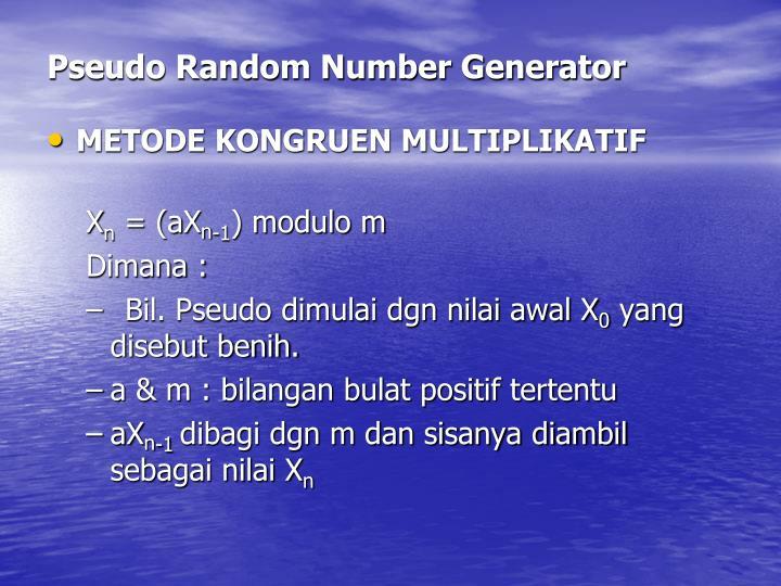 Pseudo Random Number Generator