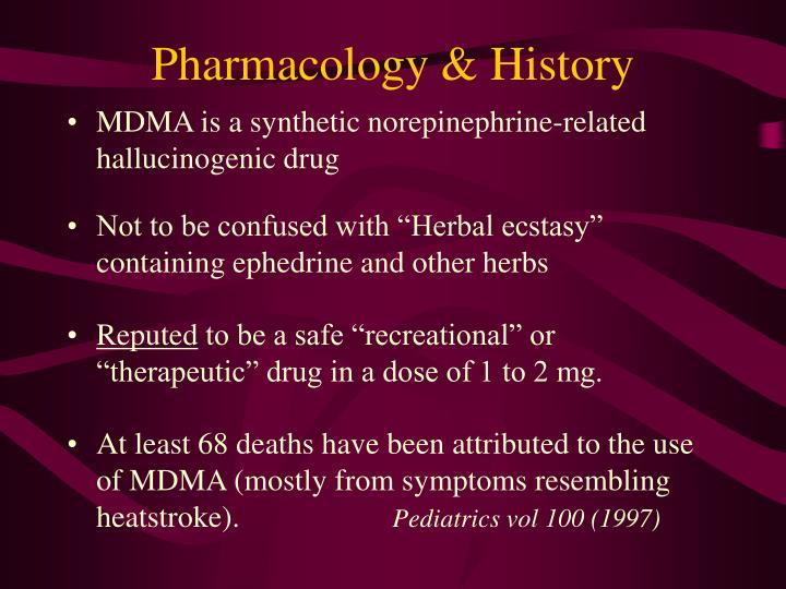 Pharmacology & History