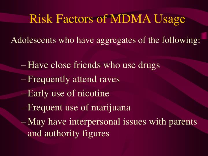 Risk Factors of MDMA Usage