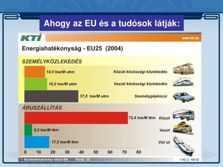 Ahogy az EU és a tudósok látják:
