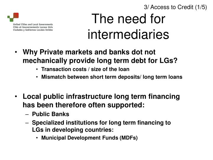Why Private markets and banks dot not mechanically provide long term debt for LGs?