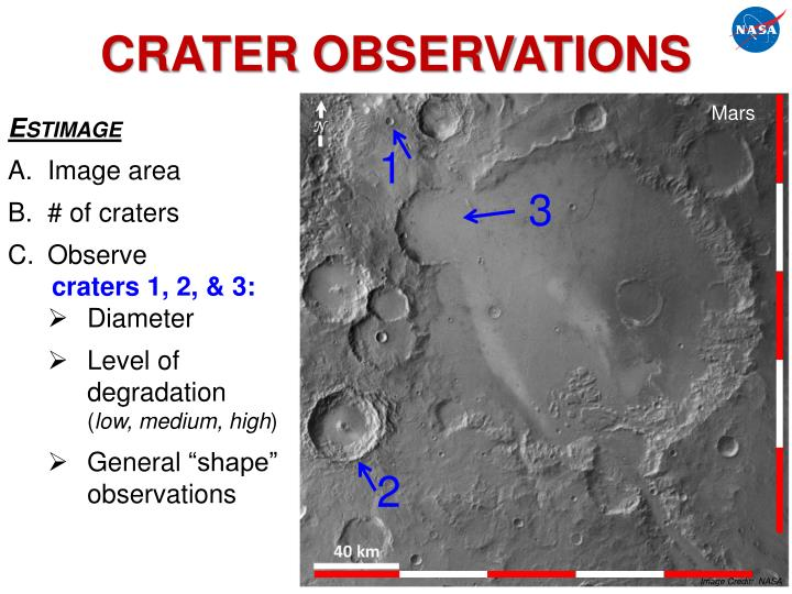 CRATER OBSERVATIONS