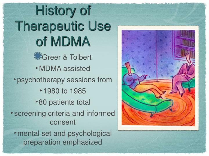 History of Therapeutic Use of MDMA