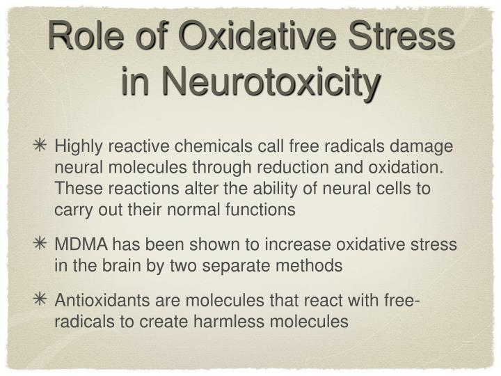 Role of Oxidative Stress in Neurotoxicity