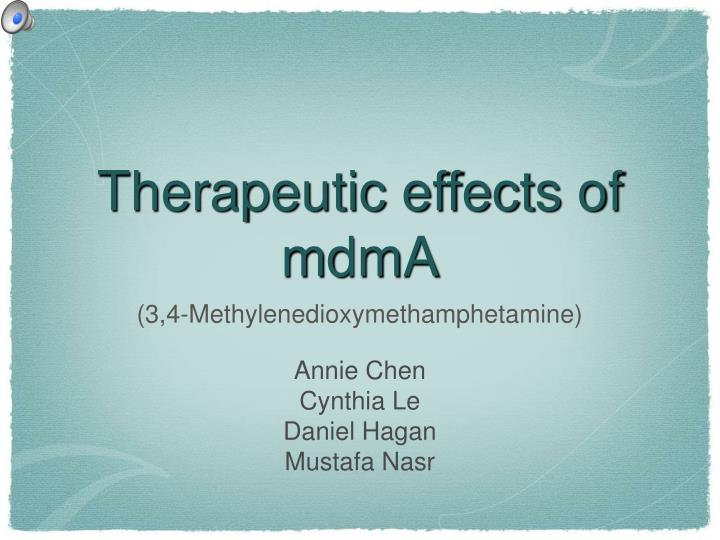 Therapeutic effects of mdma