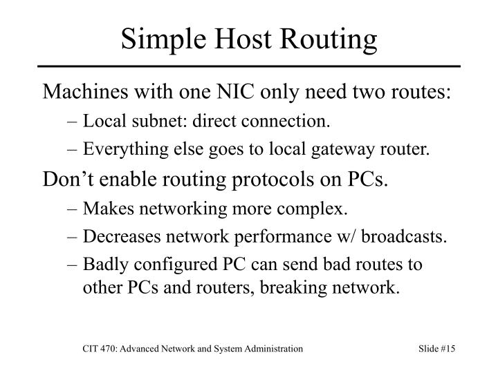 Simple Host Routing