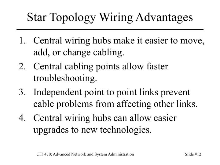 Star Topology Wiring Advantages