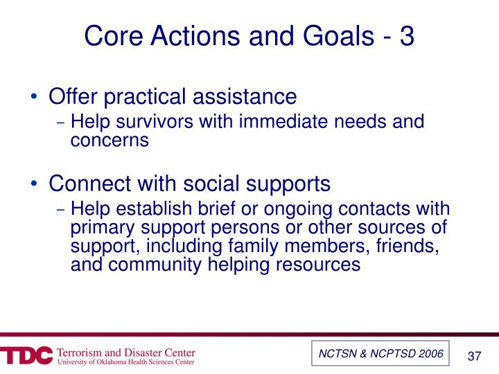 Core Actions and Goals - 3