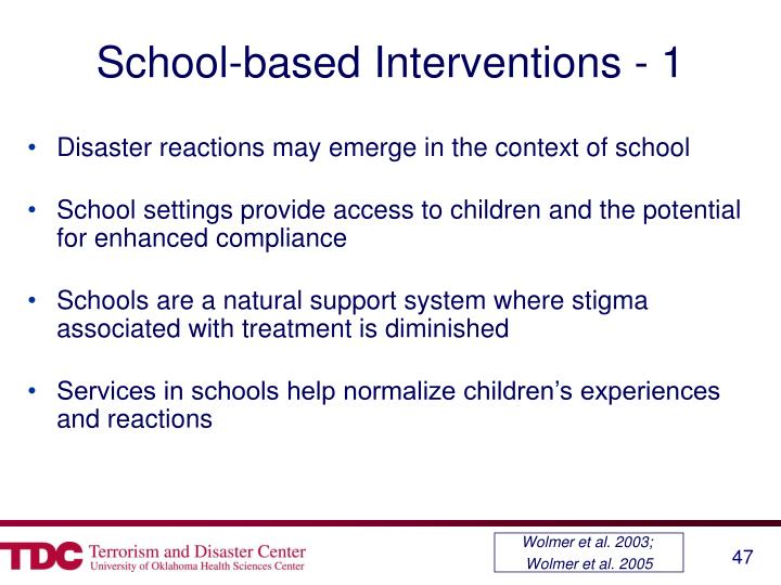 School-based Interventions - 1