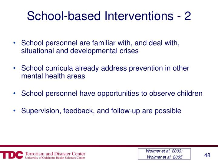 School-based Interventions - 2