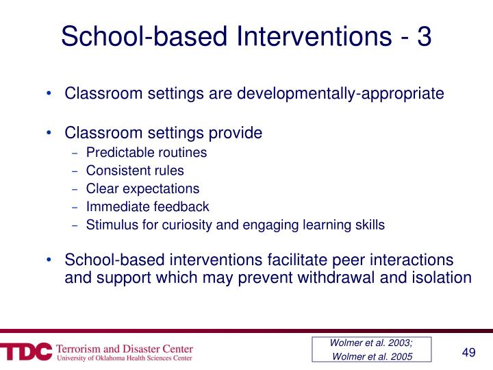 School-based Interventions - 3