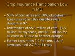 crop insurance participation low in md