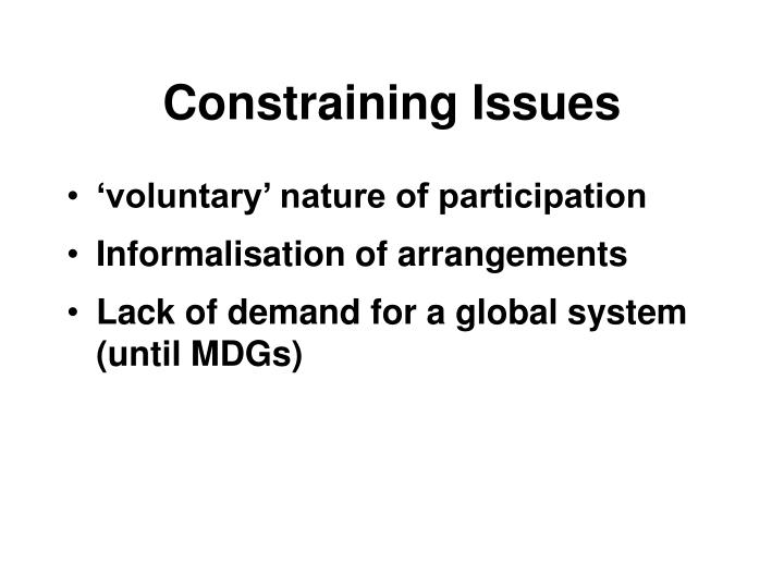 Constraining Issues