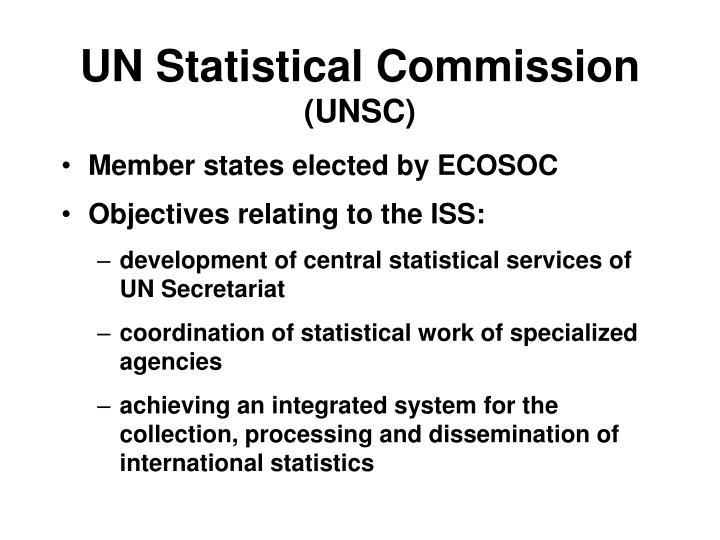 Un statistical commission unsc