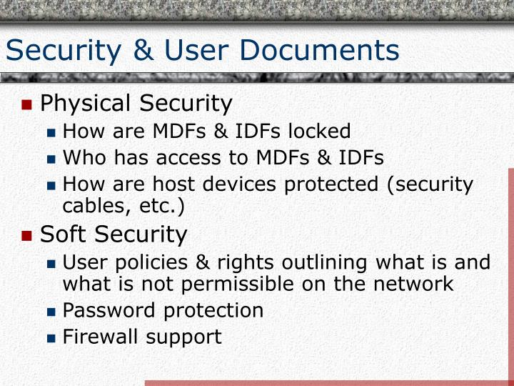 Security & User Documents