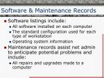 software maintenance records