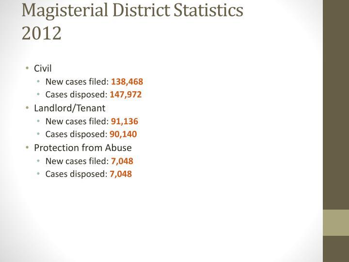 Magisterial District Statistics
