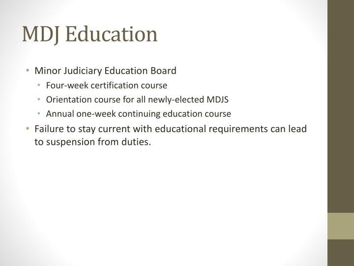 MDJ Education