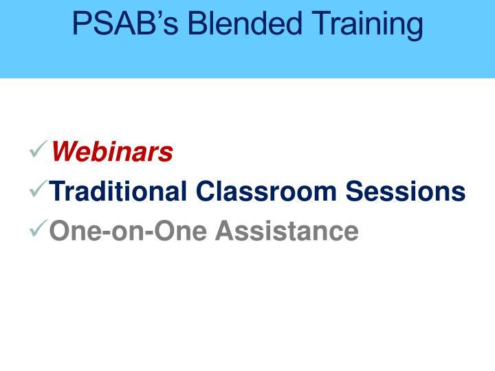 Psab s blended training