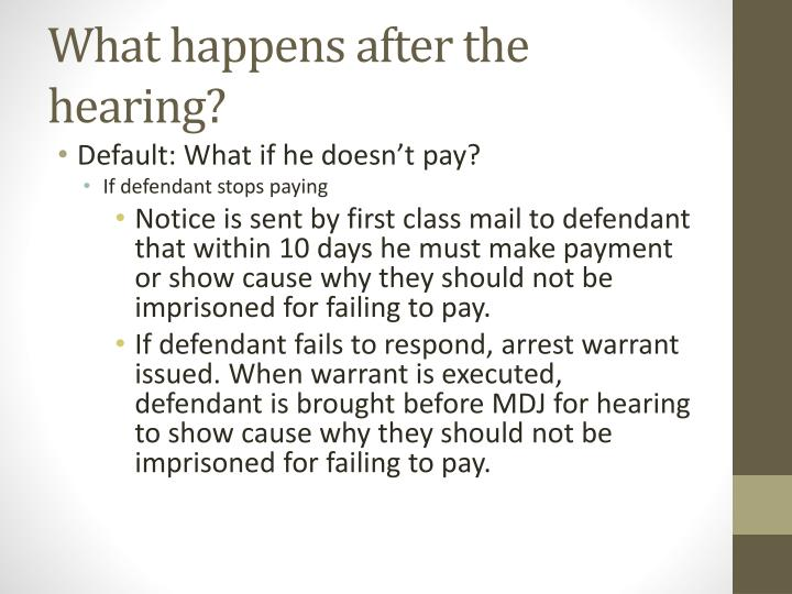 What happens after the hearing?