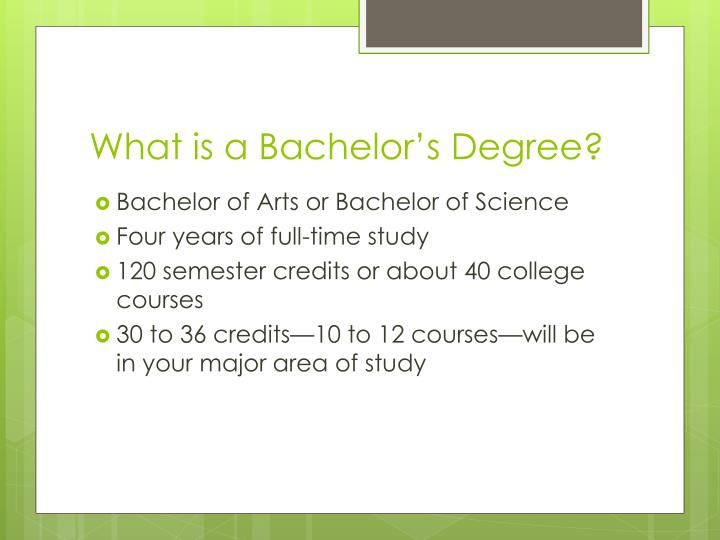 What is a Bachelor's Degree?
