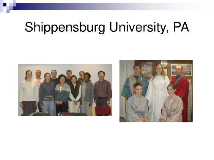 Shippensburg University, PA