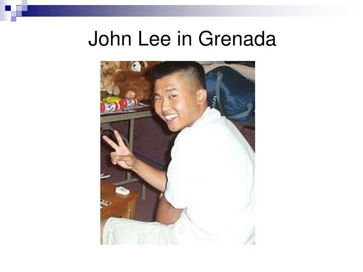 John Lee in Grenada