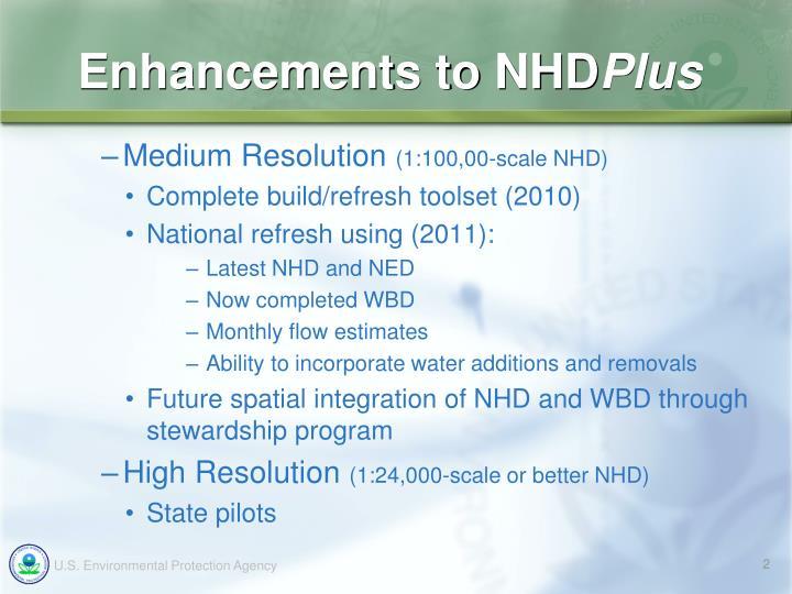 Enhancements to nhd plus