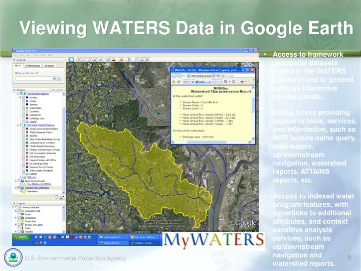 Viewing WATERS Data in Google Earth