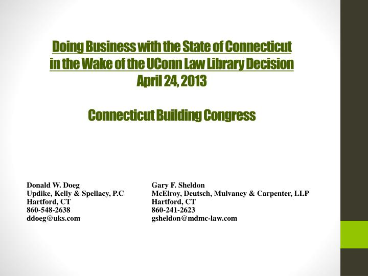 Doing Business with the State of Connecticut