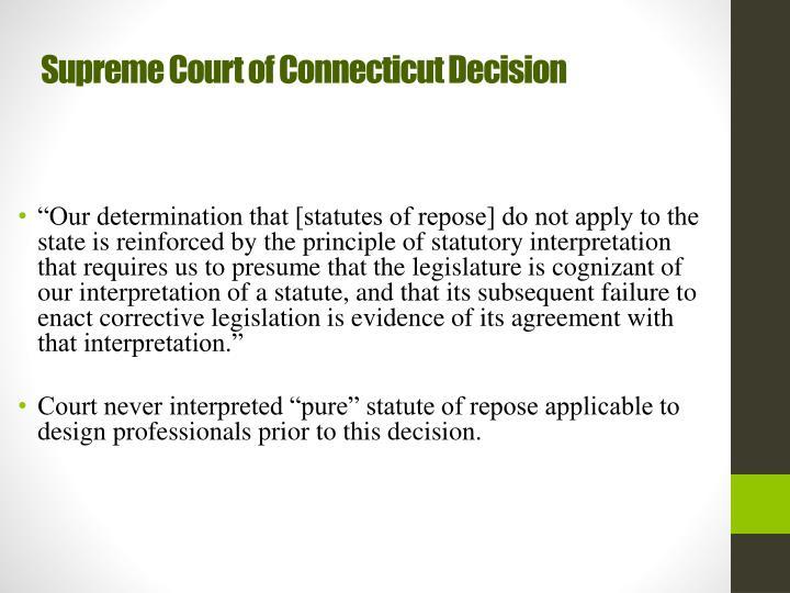 Supreme Court of Connecticut Decision