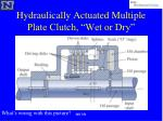 hydraulically actuated multiple plate clutch wet or dry