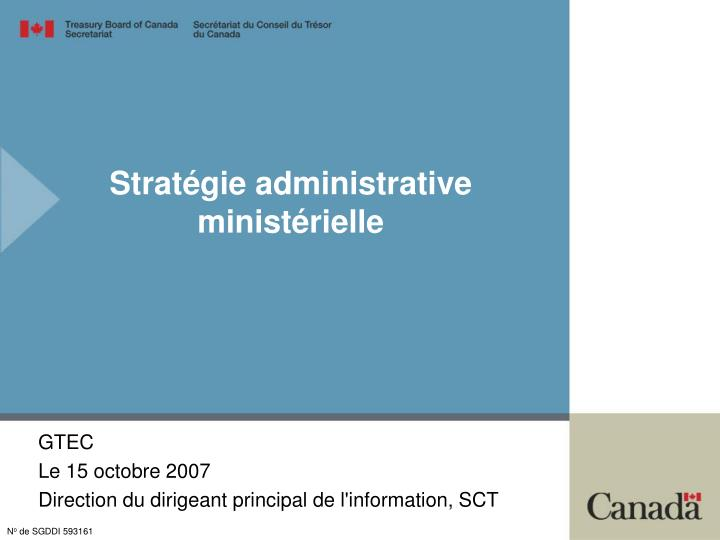 Strat gie administrative minist rielle