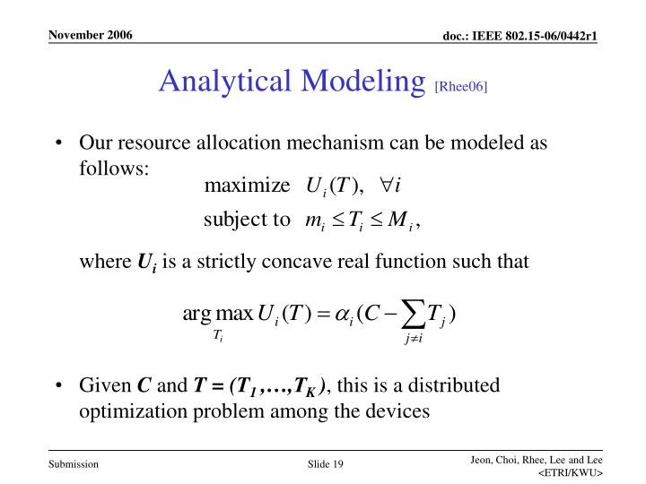 Analytical Modeling
