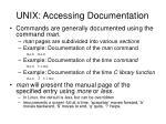 unix accessing documentation