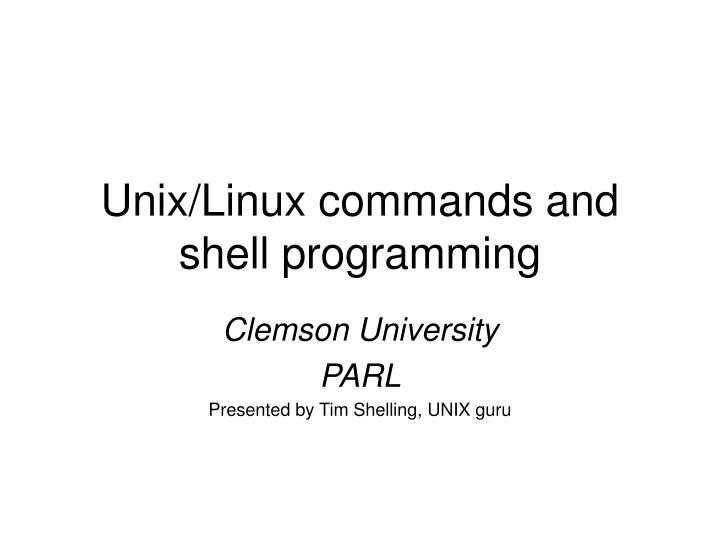 unix linux commands and shell programming