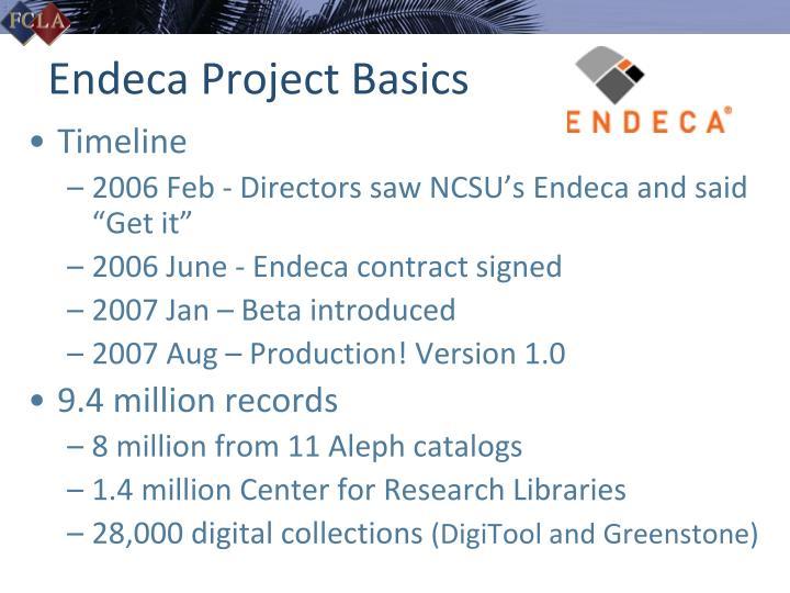 Endeca project basics