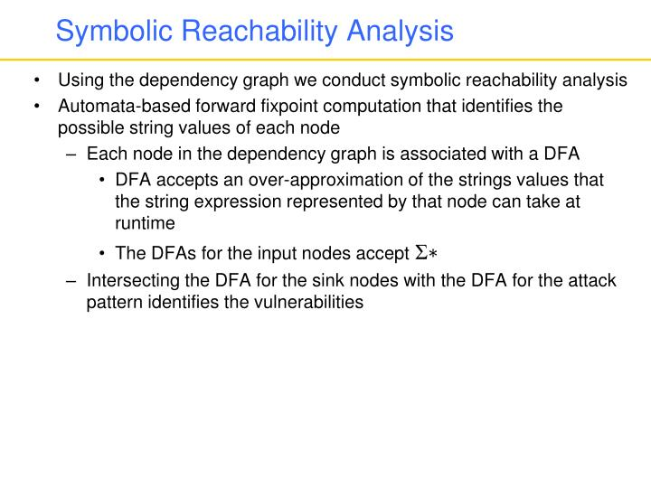 Symbolic Reachability Analysis