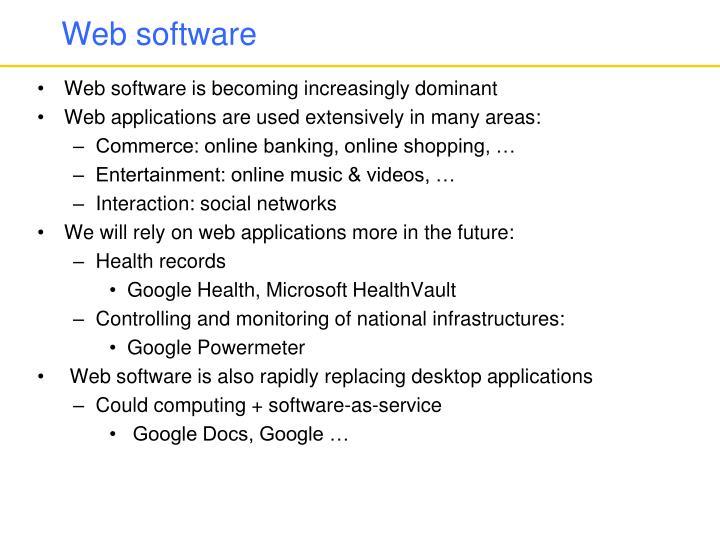 Web software