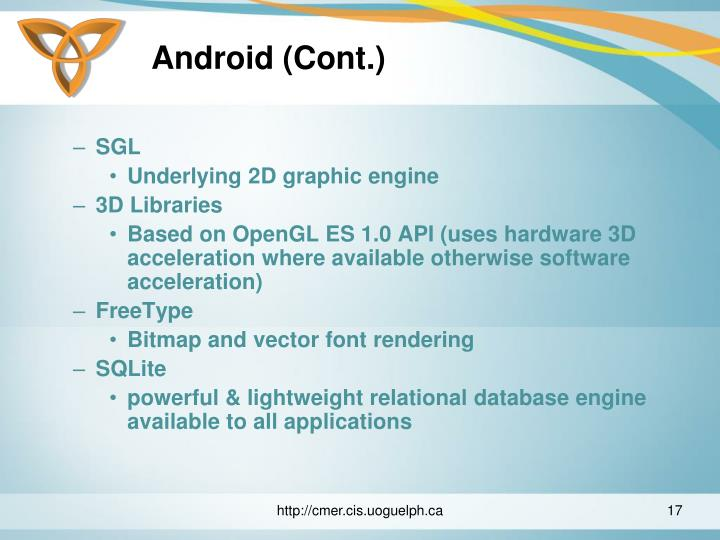 Android (Cont.)