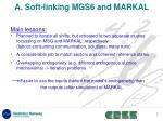a soft linking mgs6 and markal