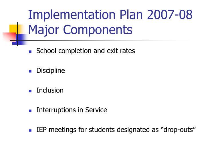 Implementation Plan 2007-08