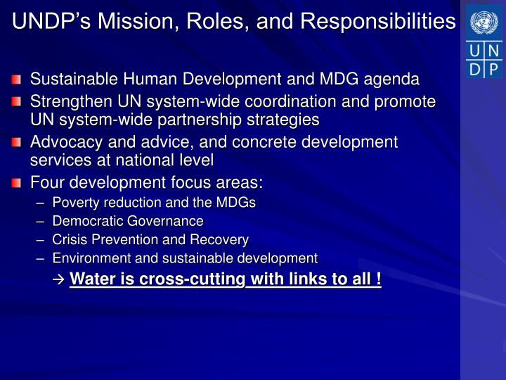 UNDP's Mission, Roles, and Responsibilities