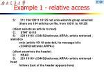 example 1 relative access1