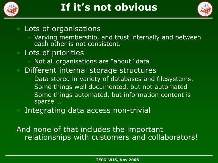 Lots of organisations