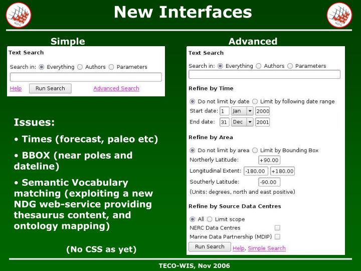 New Interfaces